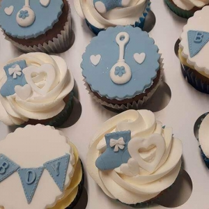 Baby Shower Boy Cupcakes Mixed