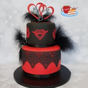 Black & Red Wedding Cake