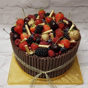 Fruit and Gold Cake