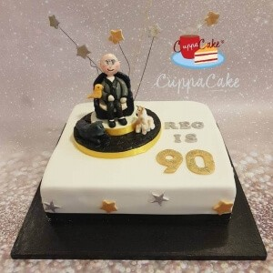 Happy 90th Male Cake