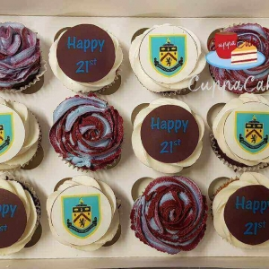 Mixed Burnley Football Club Cupcakes