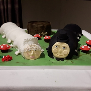 Mr & Mrs Caterpilla Wedding Cake