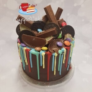 Multi Coloured & Mixed Chocolate Drip