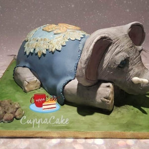 Sculpted Elephant Cake