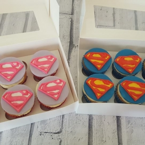 Super Hero Teacher cupcakes