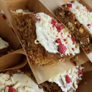 White Chocolate & Raspberry Blondie