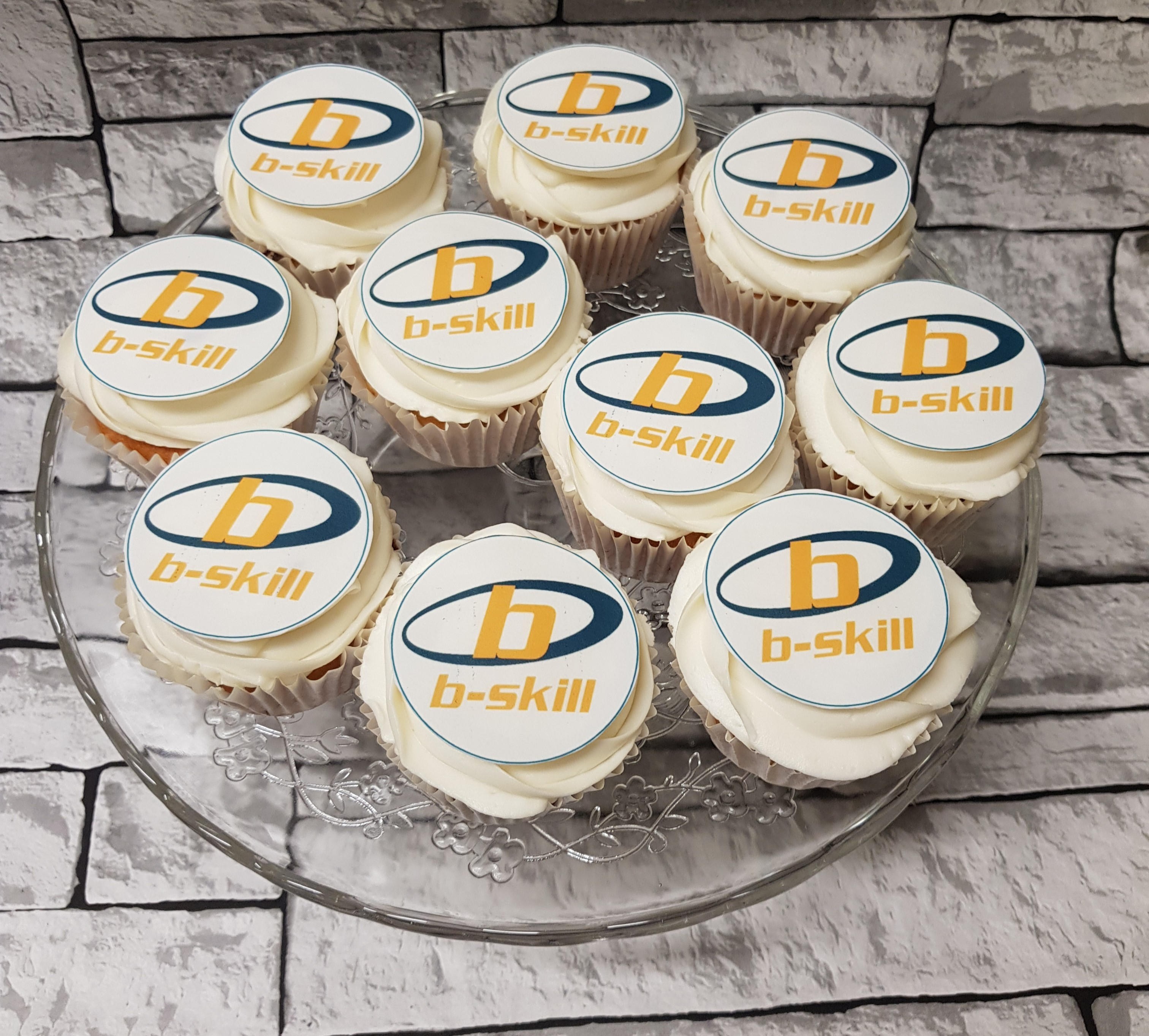 Corporate Logo Emblazoned Cupcakes
