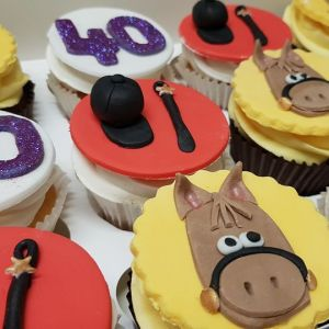 horse themed Cuppcakes